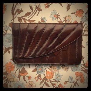 Genuine vintage Eel skin clutch. Timeless & unique